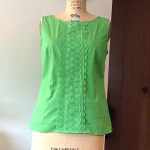 Talbots Tops - Kelly green, cotton top